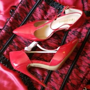 Fashion Red Patent faux leather Stilettos Sexy